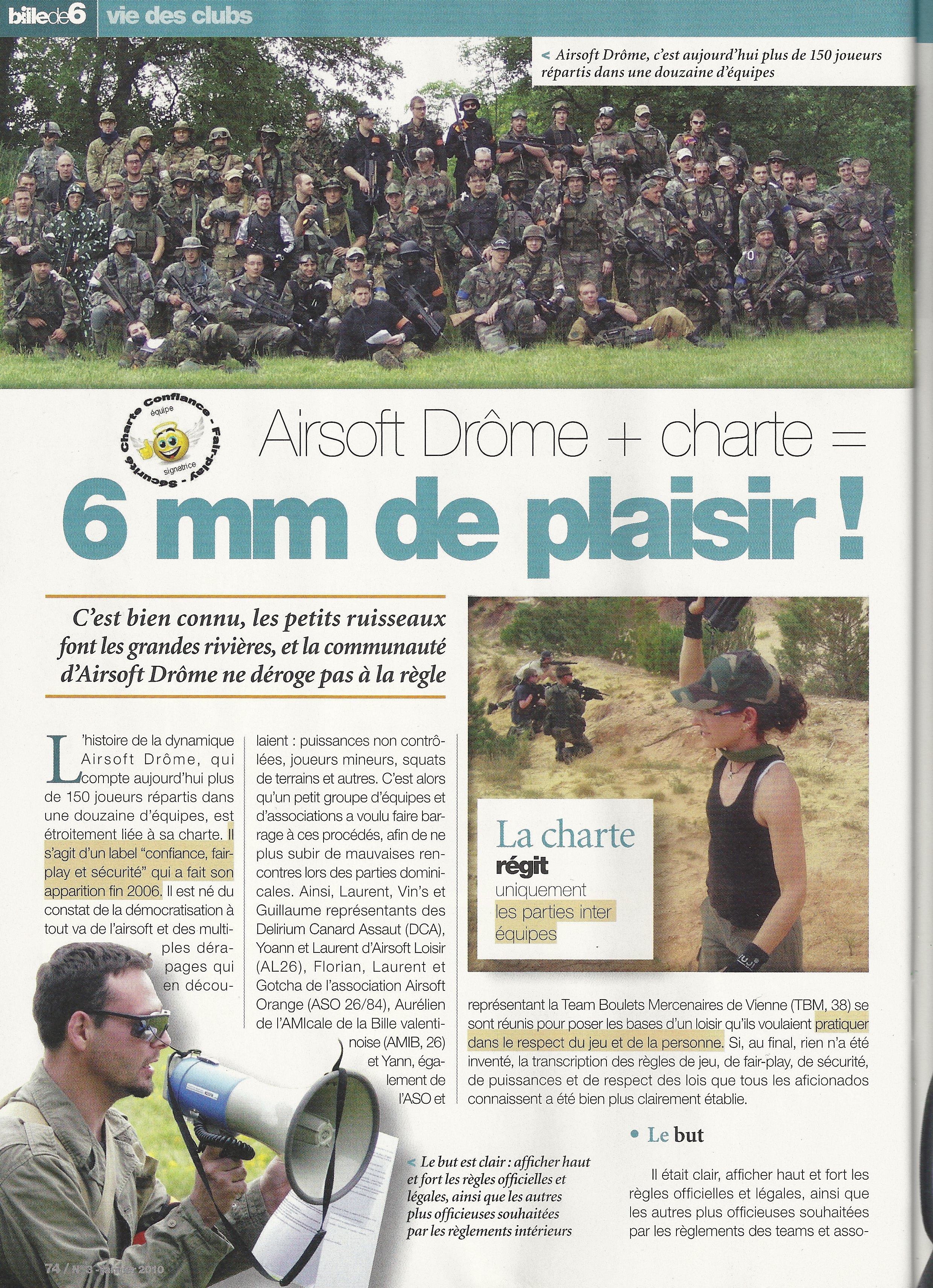 article sur airsoft drome paru dans la revue bille de 6 SCAN0005