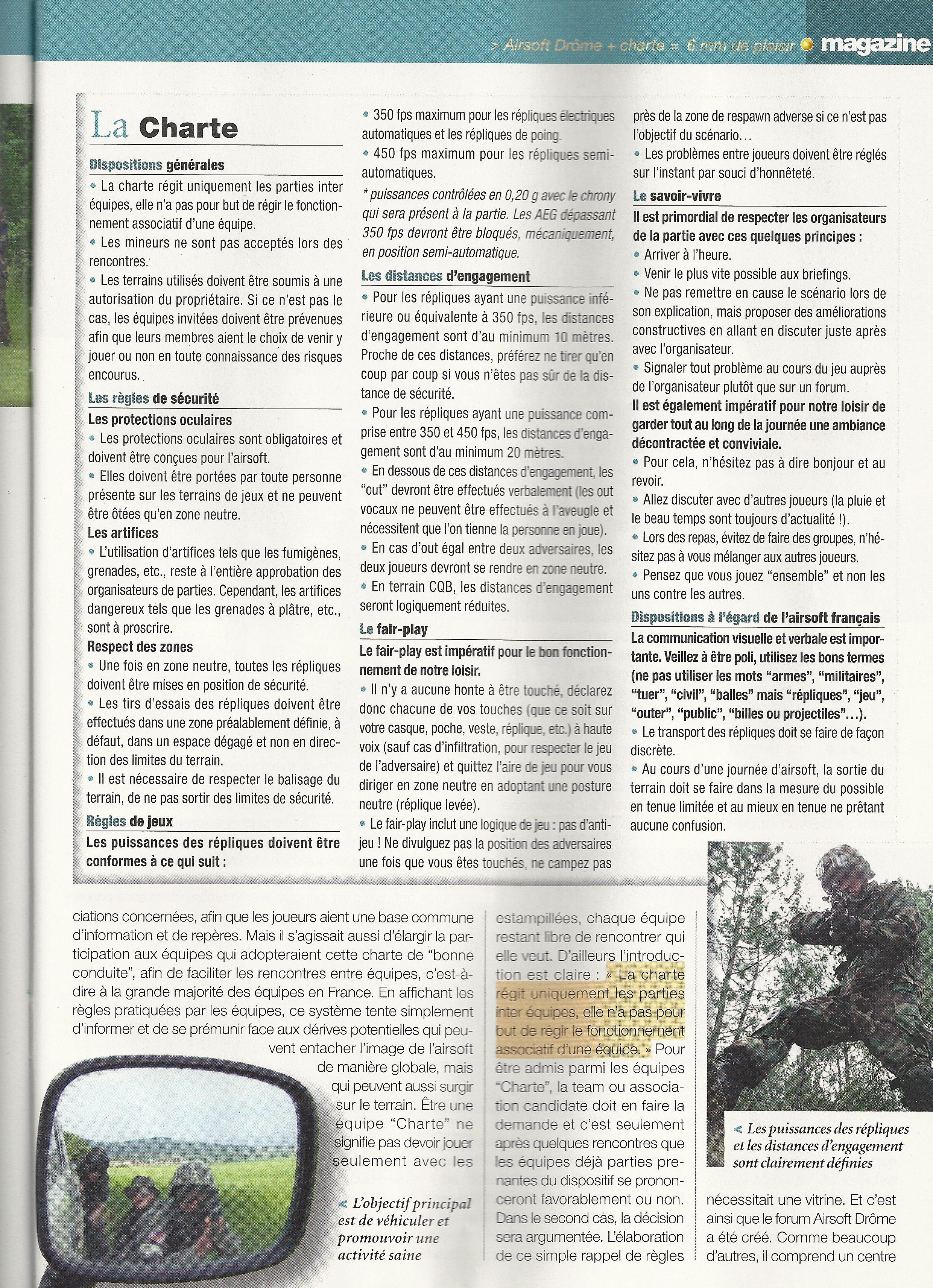 article sur airsoft drome paru dans la revue bille de 6 SCAN0006