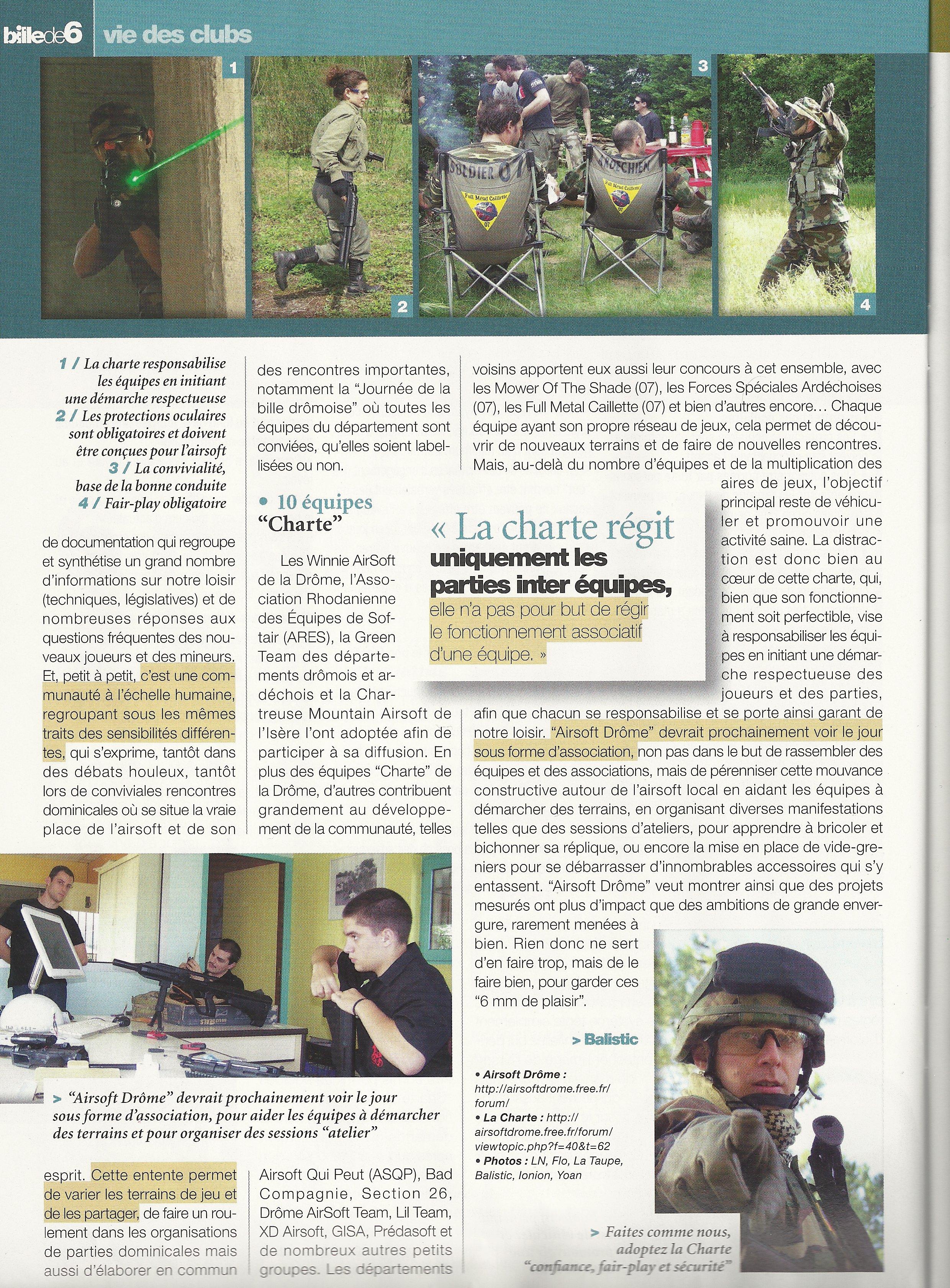 article sur airsoft drome paru dans la revue bille de 6 SCAN0007